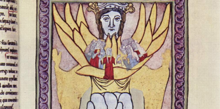 Hildegard of Bingen's art depicting Ecclesia and Sophia.