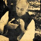 Thomas Merton with camera