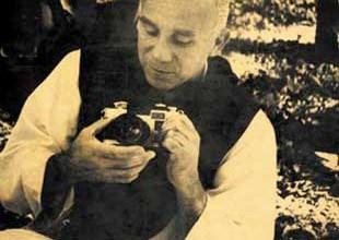 Thomas Merton with camera